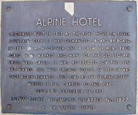 Alpine Hotel Sign