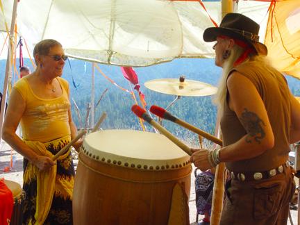 Drumming with Fakir Musafar