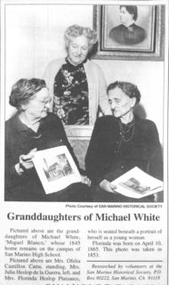 Granddaughters of Michael White