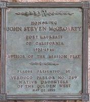John Steven McGroarty Plaque