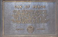 Oak of peace plaque
