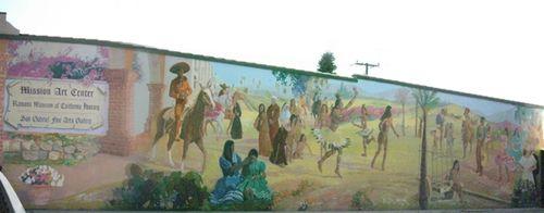 Early CA mural San Gabriel