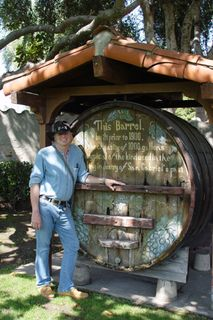Raven jake with wine barrel