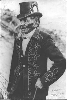 Chief Tecopa in full regalia