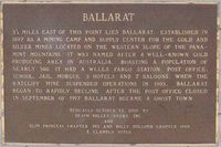 Official Ballarat Sign