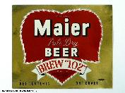 Maier Beer Label