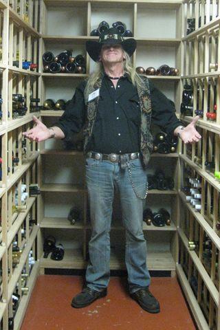 Raven Jake in the Wine Cellar