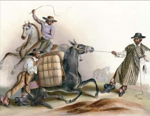 Arrieros-1836lithographbyCarlNebel